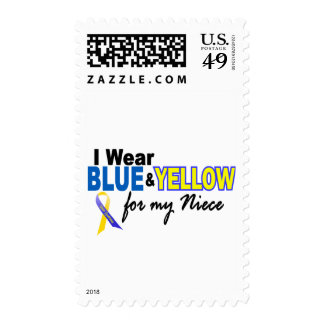 Down Syndrome I Wear Blue & Yellow For My Niece 2 Stamp