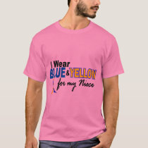 Down Syndrome I Wear Blue & Yellow For My Niece 2 T-Shirt