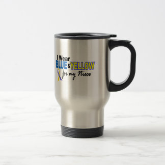 Down Syndrome I Wear Blue & Yellow For My Niece 2 Travel Mug
