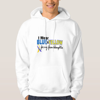 Down Syndrome I Wear Blue & Yellow Granddaughter 2 Hoodie