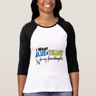 Down Syndrome I Wear Blue & Yellow Granddaughter 2 Shirt