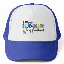 Down Syndrome I Wear Blue & Yellow Granddaughter 2 Trucker Hat