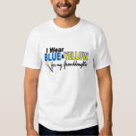 Down Syndrome I Wear Blue & Yellow Granddaughter 2 Tshirt