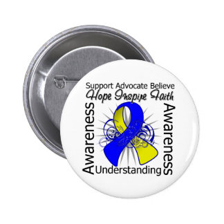 Down Syndrome Inspirations Spiral Ribbon Button