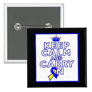 Down Syndrome Keep Calm and Carry ON Buttons