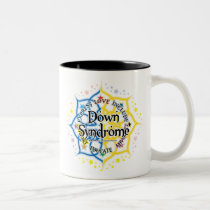 Down Syndrome Lotus Two-Tone Coffee Mug
