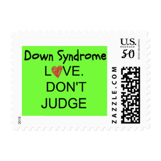 Down Syndrome/Love Don't Judge Stamps