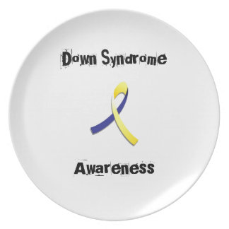Down Syndrome Melamine Plate