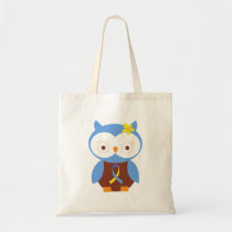 Down Syndrome Owl Ribbon Tote Bag