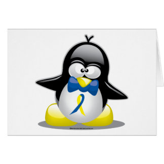 Down Syndrome Penguin Card