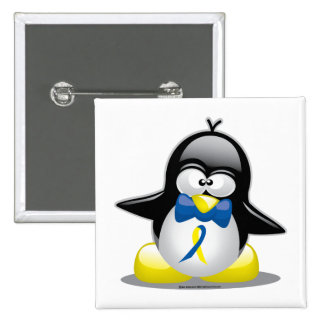 Down Syndrome Penguin Pinback Button