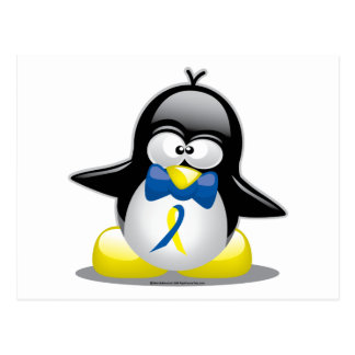 Down Syndrome Penguin Postcard