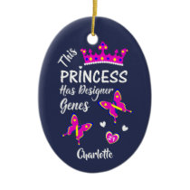 Down Syndrome Princess Cute Personalized Ceramic Ornament