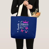 Down Syndrome Princess Cute Personalized Large Tote Bag