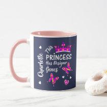 Down Syndrome Princess Cute Personalized Mug