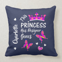 Down Syndrome Princess Cute Personalized Throw Pillow