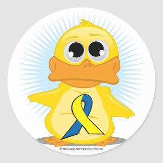 Down Syndrome Ribbon Duck Classic Round Sticker