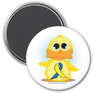 Down Syndrome Ribbon Duck Magnet