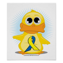 Down Syndrome Ribbon Duck Poster