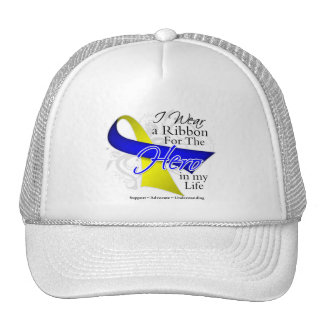 Down Syndrome Ribbon Hero in My Life Trucker Hat