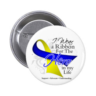 Down Syndrome Ribbon Hero in My Life Pin