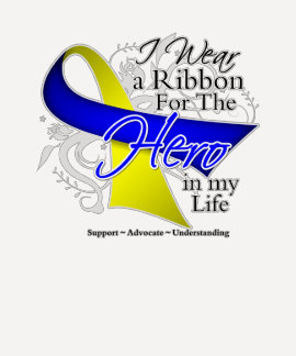 Down Syndrome Ribbon Hero in My Life Tee Shirts