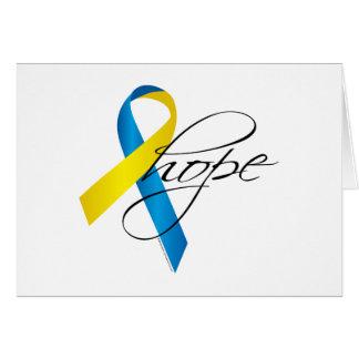Down Syndrome Ribbon Hope Card
