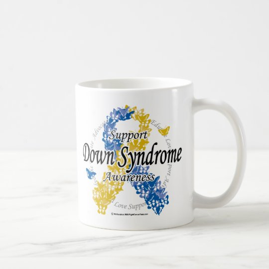 Down Syndrome Ribbon of Butterflies 2 Coffee Mug