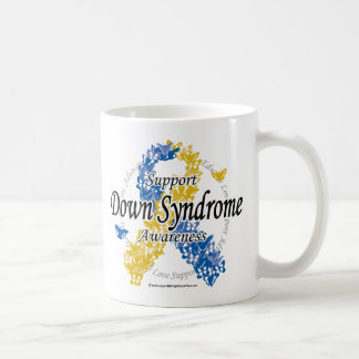 Down Syndrome Ribbon of Butterflies 2 Classic White Coffee Mug