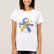 Down Syndrome Ribbon of Butterflies 2 T-Shirt