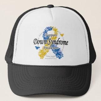 Down Syndrome Ribbon of Butterflies 2 Trucker Hat