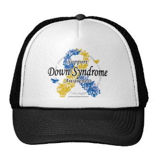 Down Syndrome Ribbon of Butterflies 2 Trucker Hat