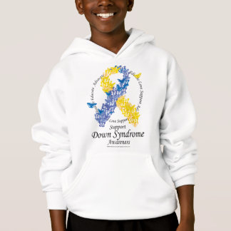 Down Syndrome Ribbon of Butterflies Hoodie