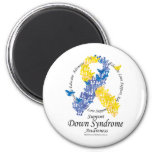 Down Syndrome Ribbon of Butterflies Magnet