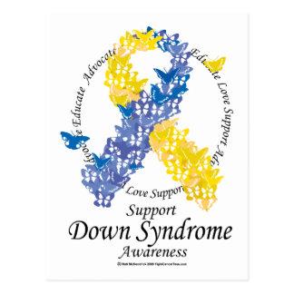 Down Syndrome Ribbon of Butterflies Postcard