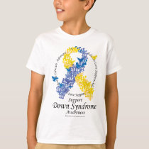 Down Syndrome Ribbon of Butterflies T-Shirt
