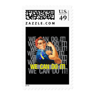 Down Syndrome Rosie WE CAN DO IT Stamp