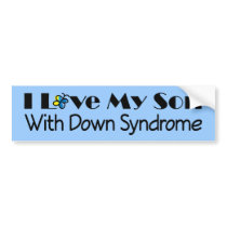 Down Syndrome Son Awareness Gift Bumper Sticker