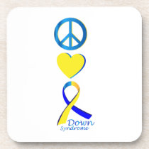 Down Syndrome Suppor Gifts Beverage Coaster