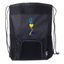 Down Syndrome Suppor Gifts Drawstring Backpack
