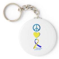 Down Syndrome Suppor Gifts Keychain