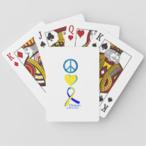 Down Syndrome Suppor Gifts Playing Cards