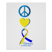 Down Syndrome Suppor Gifts Poster