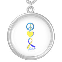 Down Syndrome Suppor Gifts Silver Plated Necklace