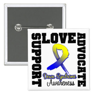 Down Syndrome Support Advocate Love Pinback Button