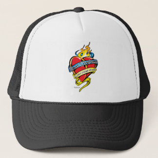 Down Syndrome Tattoo Heart Trucker Hat