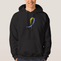 Down Syndrome's Blue And Yellow Ribbon A4 Hoodie