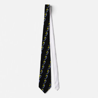Down Syndrome's Blue And Yellow Ribbon A4 Neck Tie