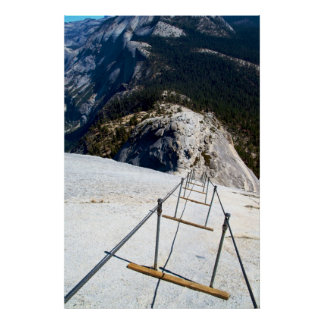 Down The Cables of Half Dome Posters