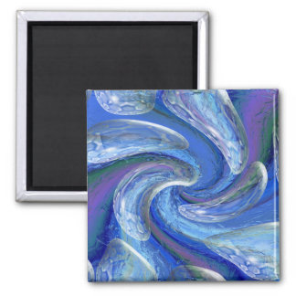 Down The Drain 2 Inch Square Magnet